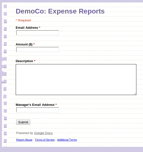 Google Apps Creating A Workflow Based Expense Tracking System